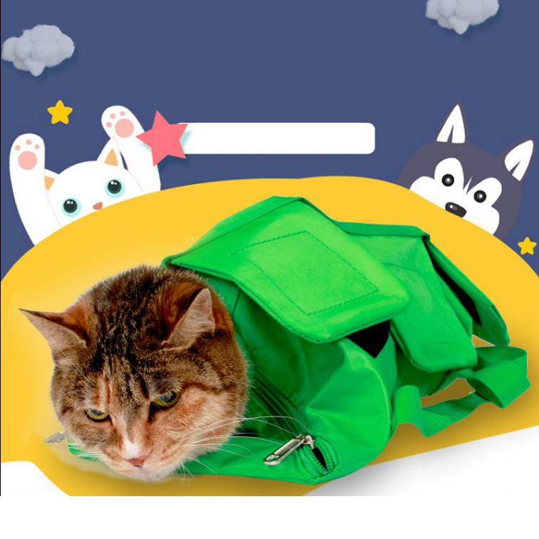 Multifunction Cat Bag Anti Scratch Cat Grooming Nail Cutting Protect Bags Pick Ear Blowing Hair Beauty Bag Supplies