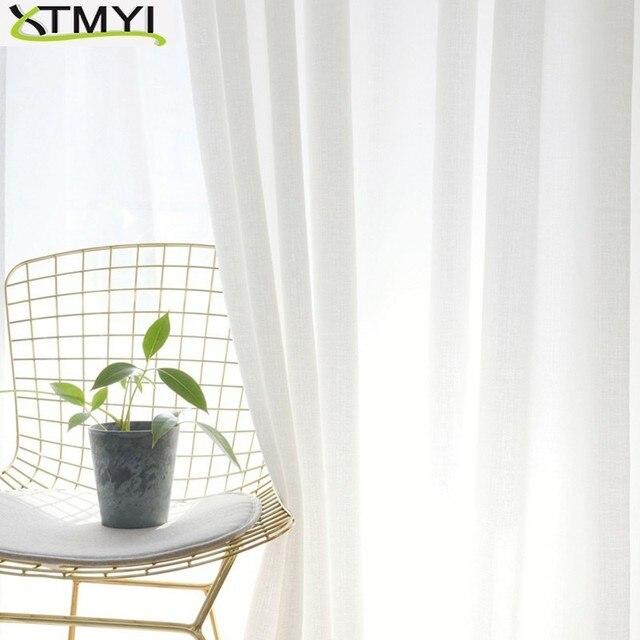 Stile del giappone Bianco Morbido Tulle Tende Della Finestra Per soggiorno Voile