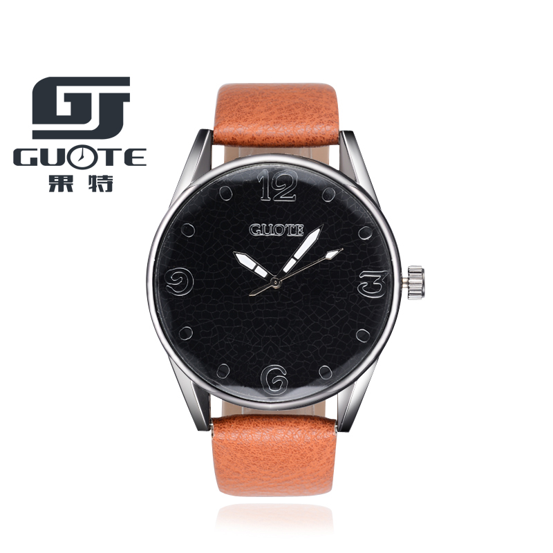Watches 2017 New Brand GUOTE Casual Quartz Watch Men Fashion Leather Strap Watches Women Wristwatch Simple Hot Relogio Masculino kingsky new fashion small women watches famous design quartz watch black pu leather strap wristwatch