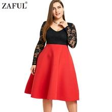Women Vintage Lace Dress Plus Size