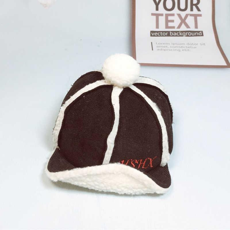 HPBBKD ใหม่แฟชั่นเด็กน่ารักเด็กหมวกเด็ก Winter Plus แคชเมียร์ผ้าฝ้ายหมวกเด็ก beanies เด็กหญิงหมวก GH654