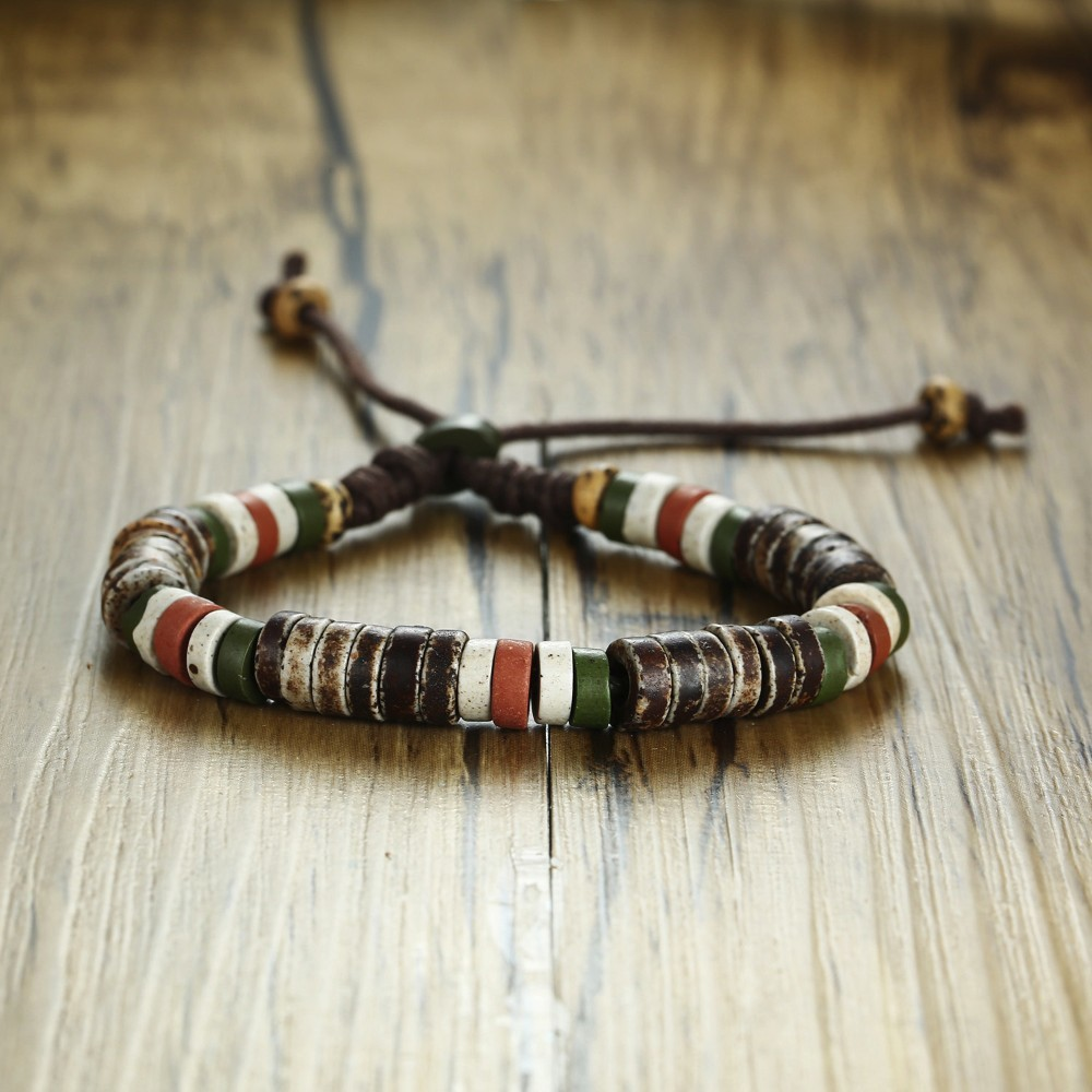 Us 2 35 40 Off Antique Natural Stone Beaded Bracelet Ancient African And Mexican Beads Bracelets Tribal Style Uni Jewelry In Strand