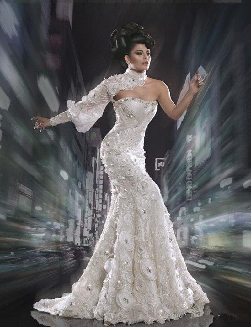 Yousef aljasmi Labourjoisie Evening Myriam fares Flower Lace Silver One  shoulder floor length Celebrity dress-in Celebrity-Inspired Dresses from  Weddings   ... d60554fc4eba