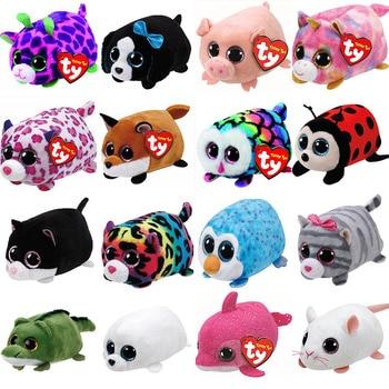 TY Beanie Boo teeny ty Plush - Icy the Seal Snake Unicorn Dog Cat 9cm Ty Beanie Boos Big Eyes Plush Toy Doll Baby Kids Gift soccer balls size 4