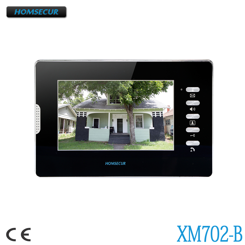 HOMSECUR 7inch Indoor Monitor XM702-B For Video Door Phone Intercom SystemHOMSECUR 7inch Indoor Monitor XM702-B For Video Door Phone Intercom System