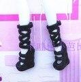 Оптовой куклы обувь для монстр toys куклы, 10 пар/лот черные сапоги для Монстр inc куклы, обувь навсегда Высокой Куклы