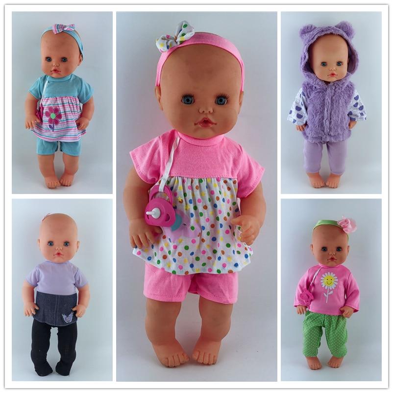 13inch Doll Clothes 35CM Nenuco Ropa Accesorios Nenuco Y Su Hermanita 15 Styles Home Clothing Sets Sleepwear Casual Clothes