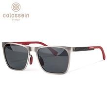 COLOSSEIN Orange Label Fashion Sunglasses,Metal Frame,Carbon Arm,Polarized Lens For Men