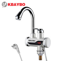 3000W Electric Water Heater Kitchen Faucet Electric Instant Water Heater Tap Cold Hot Dual Use