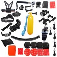 Free Shipping!! Accessories Set Helmet Harness Chest Head Mount Strap Monopod for GITUP Gopro,SJ4000,SJ5000, XiaoYI Sport Cam