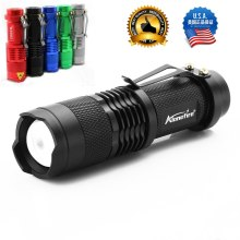 USA EU Hot SK68 CREE XPE Q5 LED Mini Flashlight Portable Zoomable CREE Q5 led torch flashlight lamp Lighting For AA or 14500