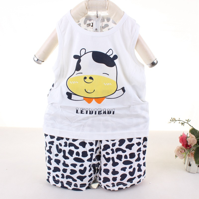 276f4c77b Cow Baby Sets Newest Summer Baby Girls And Boys Suits Hot Sale Baby Clothes  Sets Kids Vest+Short 2 Pcs Sets Baby Boys Clothing