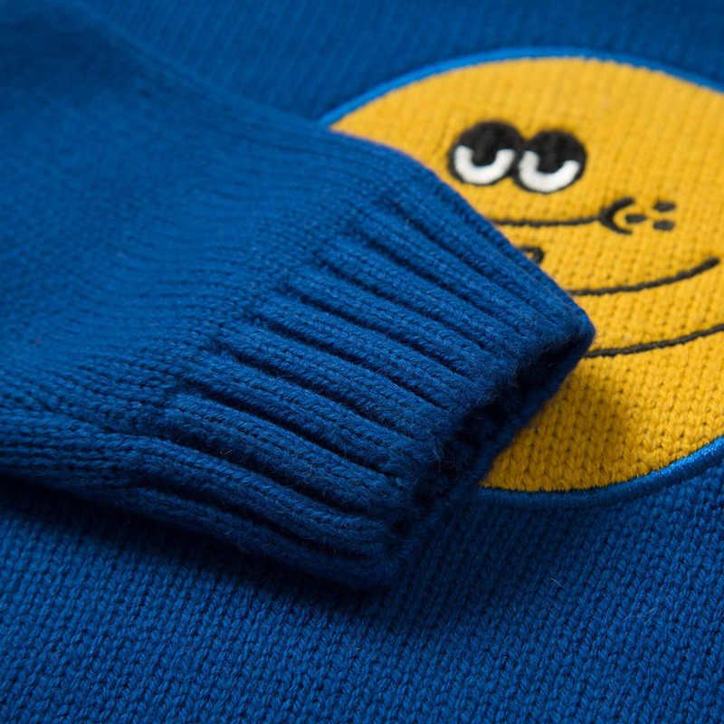 Мини-балабала 2018 года, осенне-зимний свитер для маленьких мальчиков и девочек, толстый винтажный вязаный свитер с героями мультфильмов для маленьких мальчиков, кардиган для новорожденных девочек