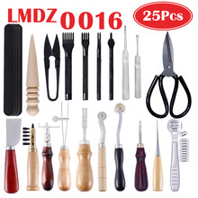LMDZ Professional Leather Craft Punch Tools Kit Stitching Carving Working Sewing Saddle Groover Leathercraft Tools Set Kit DIY