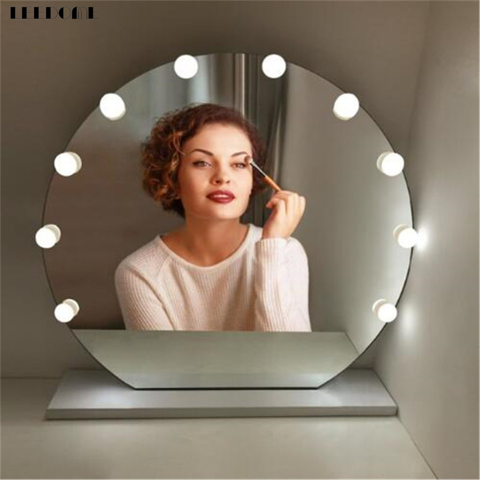 Dropship 3.1m 10LED Bright Bulbs Adjustable Brightness Makeup Mirror Light AC 110-220V Touch Control <font><b>Hollywood</b></font> Lamp For Dressing image