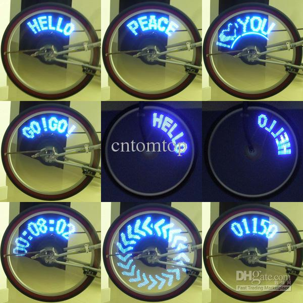 14 Led Electric Bike Bicycle Wheel Spoke Light Blue Lights