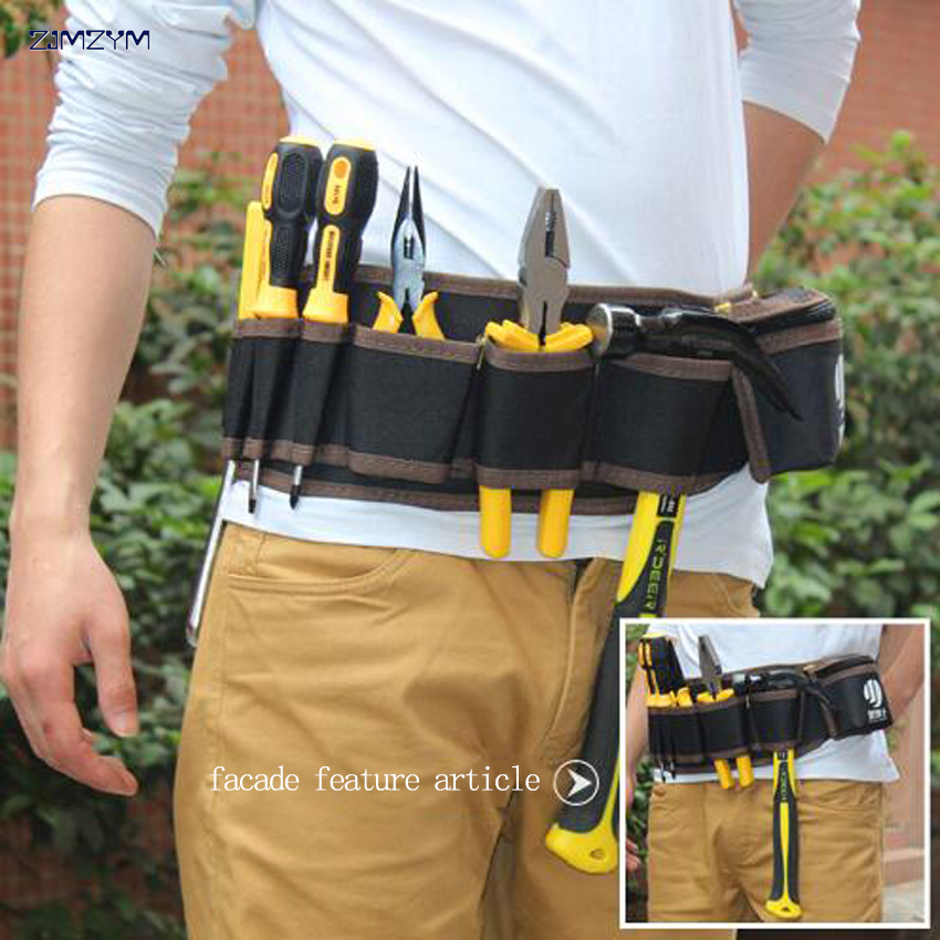 Electrician/'s Tool Apron Pouch Bag Pocket Organizer Carpenter Storage Belt