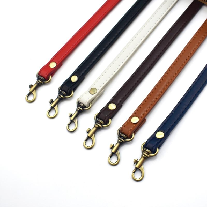 1.2cm Width PU Leather Bag Strap Shoulder Bag Adjustable Band Handle For Handbag Long Belt DIY Accessories Black KZ0012