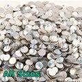 2028 NoHF White Opal Cor SS3 Strass Todos Os Tamanhos, 4,5, 6,8, 10,12, 16,20, 30,34 Não Cola em Unhas Pedrinhas Cristal Flatback Hotfix