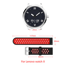 Band Width 20mm Silicone Strap For Lenovo watch Sports Strap Two-color Lenovo watch X Band Quick disassembly Replacement strap