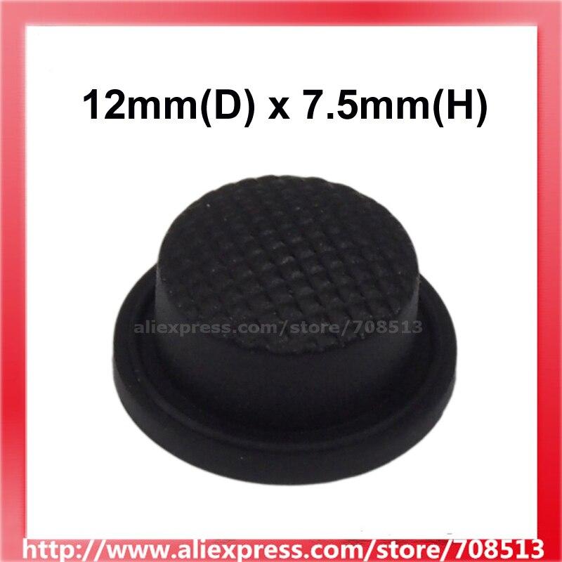 12mm(D) X 7.5mm(H) Silicone Tailcaps - Black (10 Pcs)