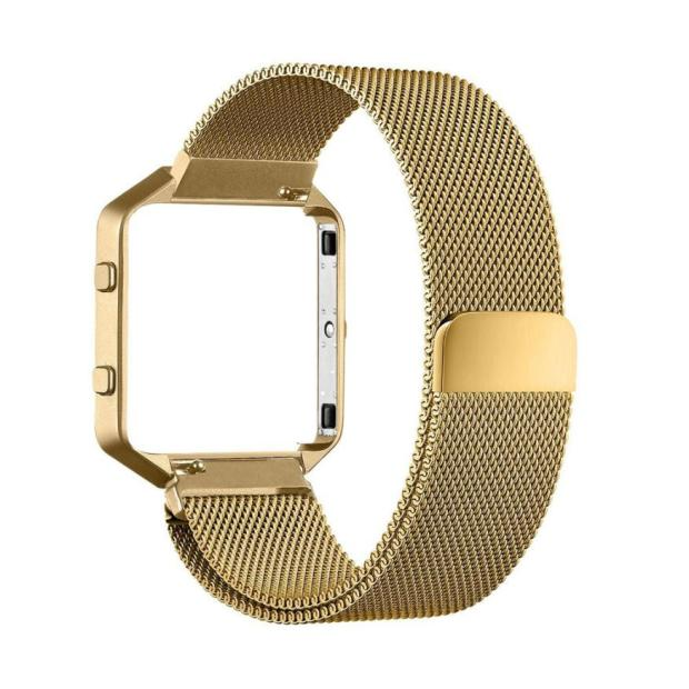 Milanese Magnetic Stainless Steel Watch Band + Metal Frame For Fitbit Blaze S  new design 2017 spring hot sale Dec15 crested milanese loop strap metal frame for fitbit blaze stainless steel watch band magnetic lock bracelet wristwatch bracelet