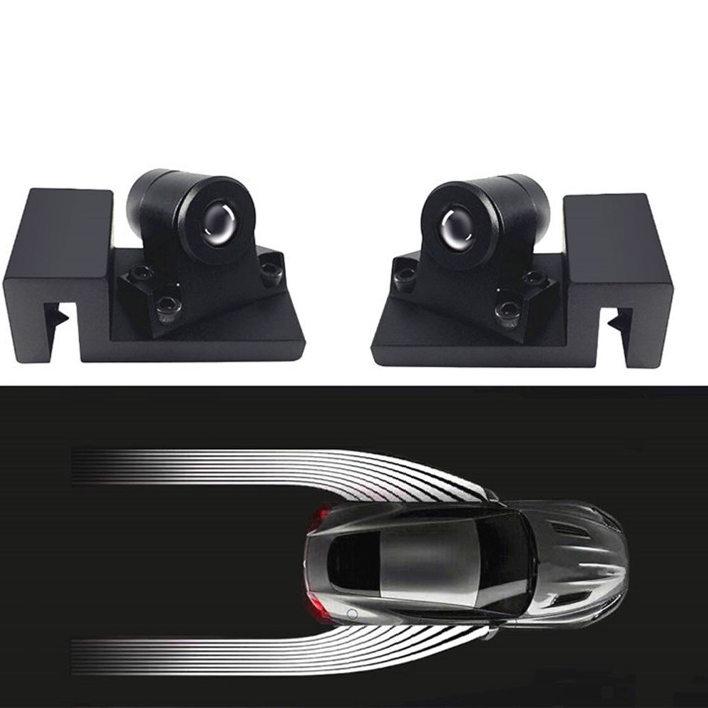 <font><b>Car</b></font> LED Lamp Door Welcome Light Lamps Angel <font><b>Wings</b></font> <font><b>Logo</b></font> Universal Ghost Shadow Laser Projector Auto Motorcycle Warning Electronic image
