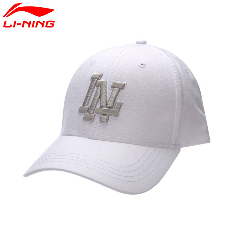 Li-Ning Adjustable Outdoor Urban Sport Caps for Young Men and Women 100% Cotton Li Ning Baseball Running Hats Breathable AMYM128