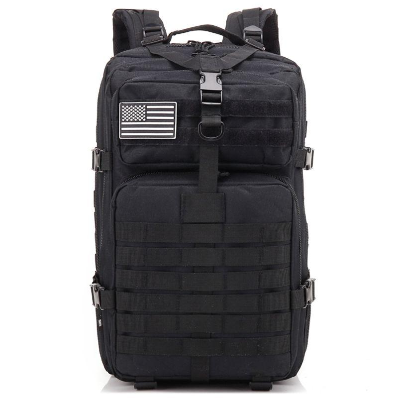 34L tactique assaut Pack sac à dos armée Molle étanche Bug Out sac petit sac à dos pour la randonnée en plein air Camping chasse (noir)
