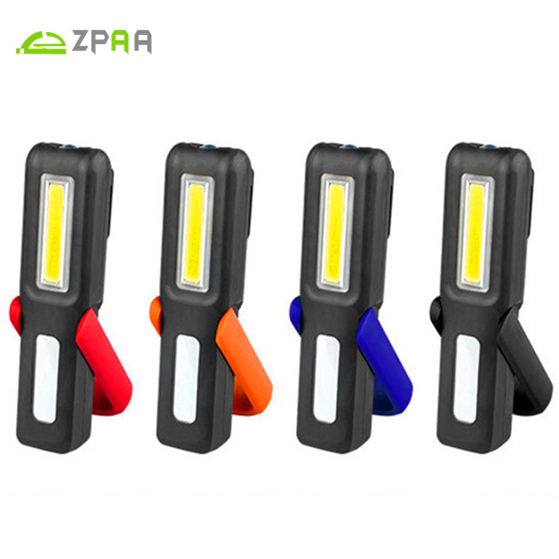 10pcs COB Led Work Lamp USB Rechargeable Flashlight Magnetic Emergency Light Portable Lantern Torch Home use and car repairs