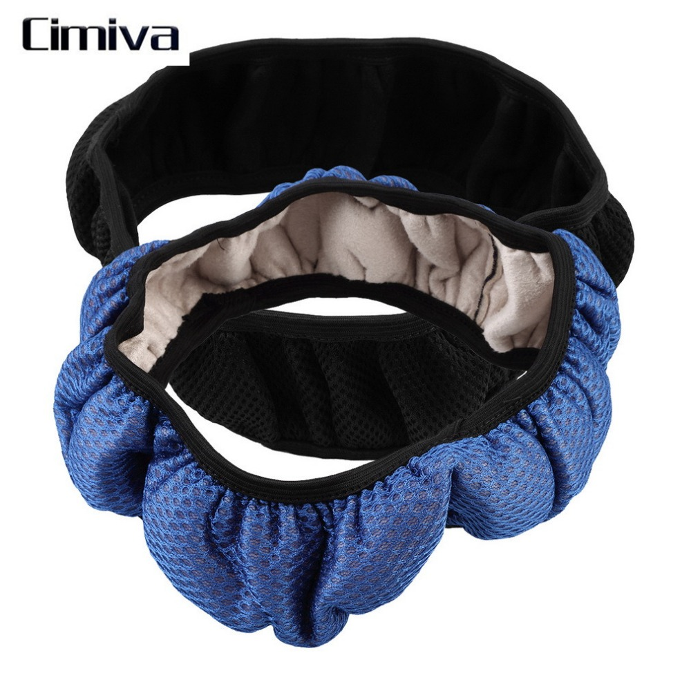 Cimiva 2017 New Car Auto Universal Elastic Handmade Skidproof Steering Wheel Cover Blue/Black