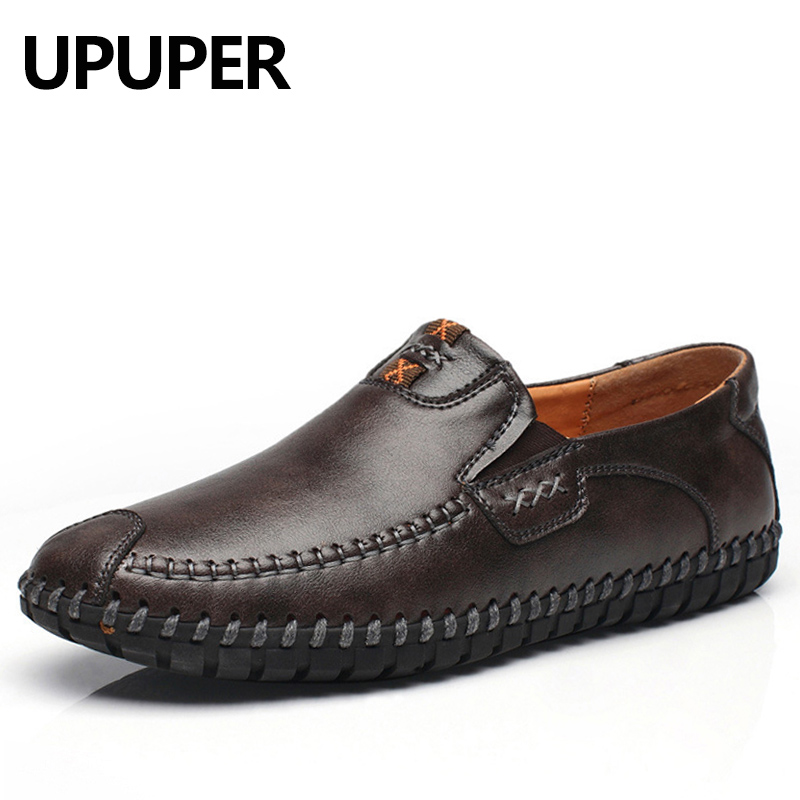 2018 New Fashion Mens Casual Shoes Leather Comfortable Loafers Moccasins Mens Driving Shoes High Quality Flat Shoes Men