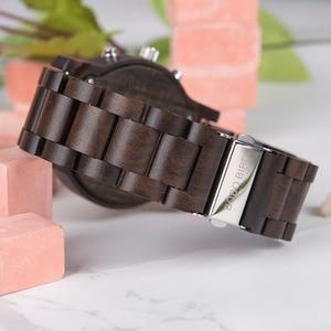 Image 4 - בובו ציפור גברים של שעון דיגיטלי עץ קוורץ שעוני יד תצוגה כפולה עץ שעונים חדש 2019 למעלה מותג C dR02