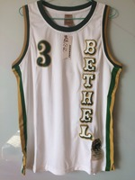 2018 Mens New Cheap Throwback Basketball Jerseys 3 Allen Iverson Bethel High School Bruins White Basketball