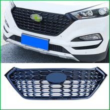 цена на For Hyundai Tucson 2015 2016 2017 2018 FRONT Bumper Glossy Black RACING GRILLE Grills Cover Trim Car Styling ACCESSORIES GRILL