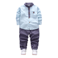 Boys Clothes 1 2 3 4 Years Spring 2018 Long Sleeve Top Pants 2Pcs Single Breasted