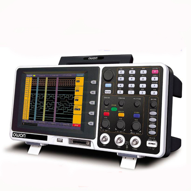 Flash Promo OWON MSO8202T Mixed Signal Oscilloscope Logic Analyzer 200MHz 2ch GSa/s 2M 7.8''