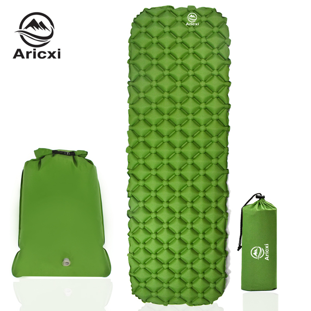 ONLY 450g Outdoor Inflatable Cushion Sleeping Bag Mat Fast Filling Air Moistureproof Camping Mat Sleeping Pad