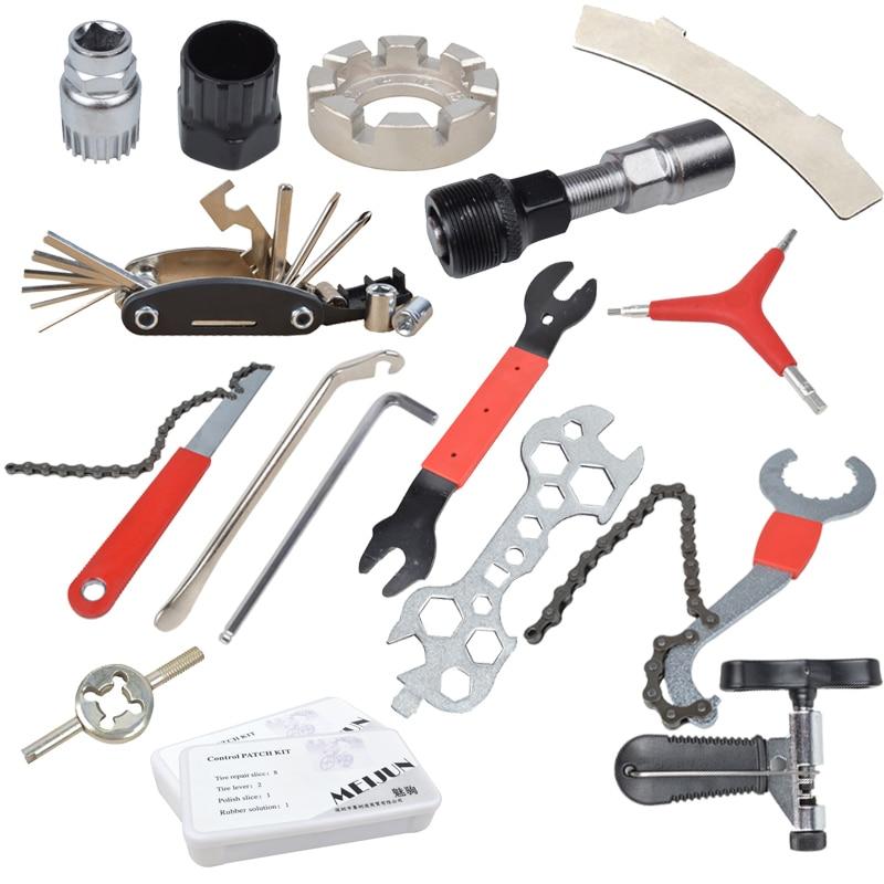 Multifunction 11In1 Bicycle Repairing Tools Chain Wrench Screwdriver Set Bike