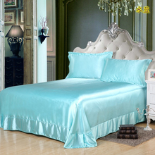 Household Bed Covers Pure Color Soft Comfortable Skin Care Sheets Double Beds Flat Bedroom Decorative