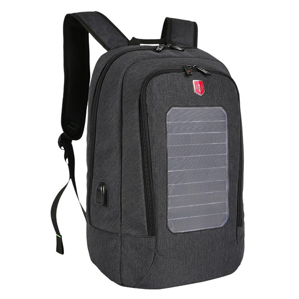 태양 전지 패널 배낭 남자 usb 충전 도난 방지 15.6 인치 노트북 배낭 남자 방수 여행 가방 태양 열 충전기 데이 팟-에서백팩부터 수화물 & 가방 의  그룹 2