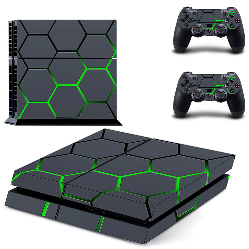 Image 3 - HOMEREALLY PS4 Sticker Green Camouflage Vinyl Cover Decal PS4 Skin Sticker for Sony Play Station 4 Console and 2 Controller Skin-in Stickers from Consumer Electronics