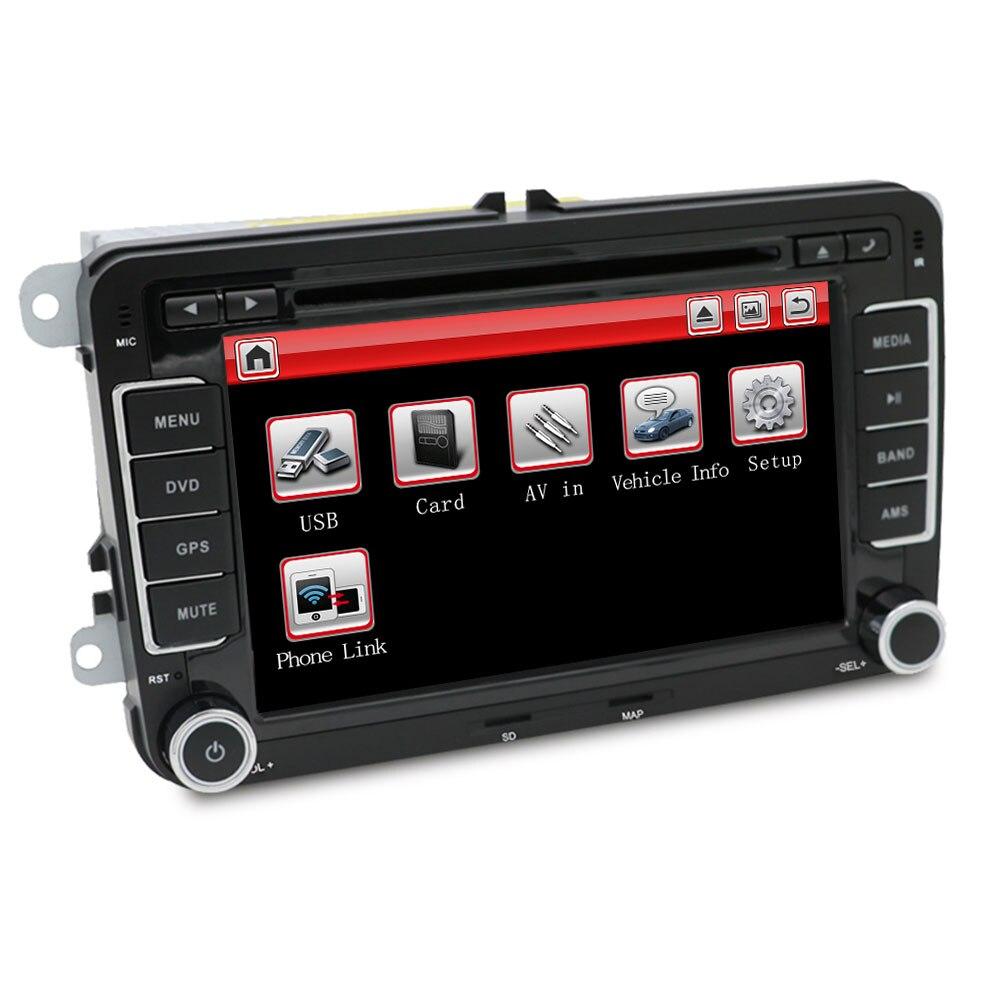 Eunavi 2 Din 7 ''lecteur DVD de voiture Radio GPS Navi pour VW Golf Polo Jetta Touran Mk5 Mk6 Passat B6 2din stéréo tablette pc dans dash usb - 4