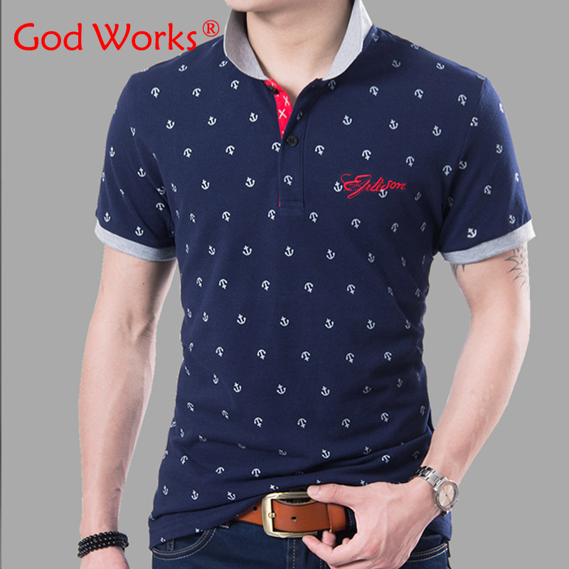 Men polo shirt new fashion breathable summer polo homme print shirts tops tees men s clothing
