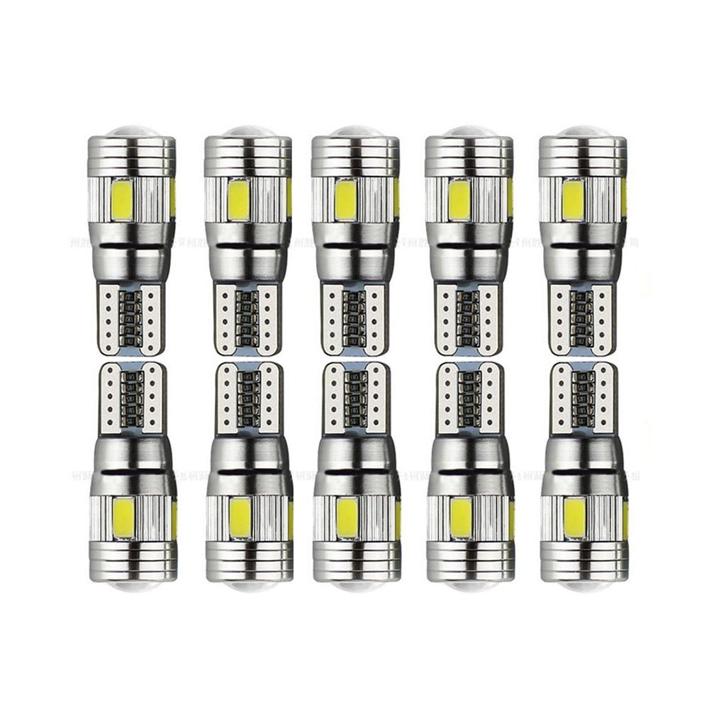 10 pcs Mobil LED Light Bulbs Lampu Izin T10 W5W 6SMD 5630 194 168 - Lampu mobil - Foto 6