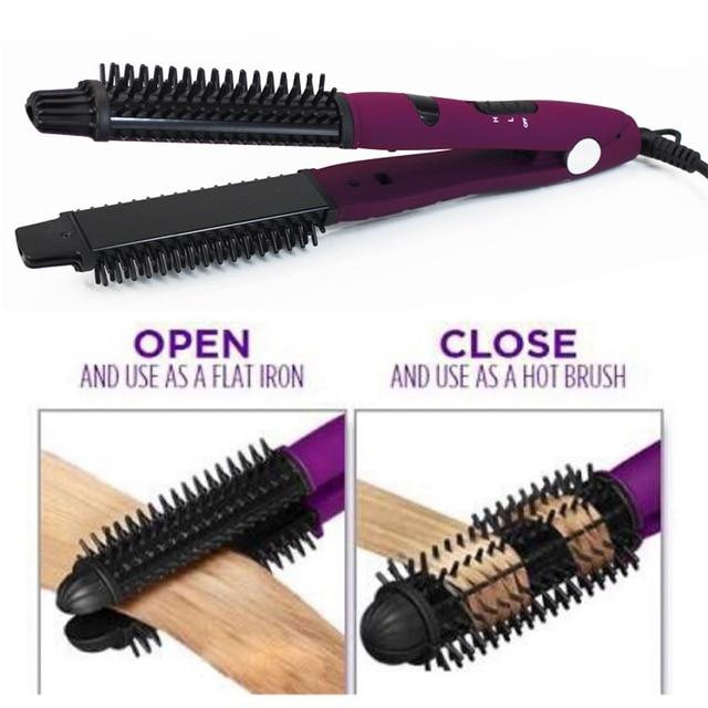 4 in 1 Ceramic Styler Hair Curler Brush Straightener  1