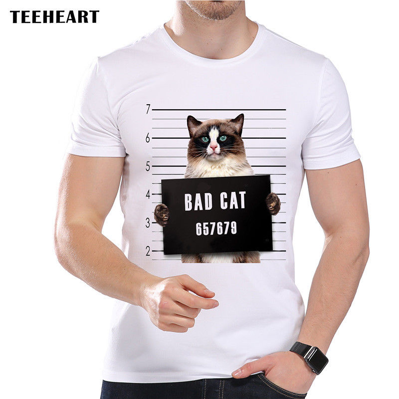 Very Bad Cat Is In Prison Now Dont Release It Funny Joke Men T Shirt Tee