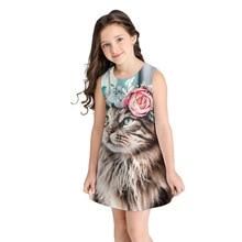 цены на Girls Dresses 2019 Fashion Child Dress Print Design Baby  Dress Kids Dresses for Girls Casual Wear Children Clothing  в интернет-магазинах