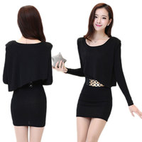 Fall And Winter New OL Professional Suit Women S Set Skirt Fake Two Long Sleeved Slim