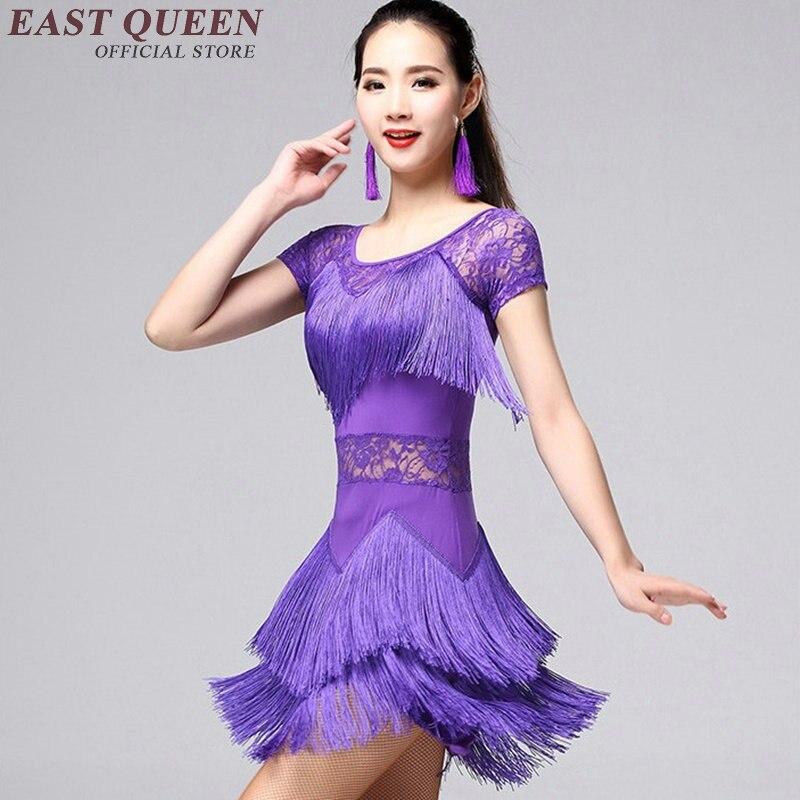 New latin dance costumes sexy senior gauze tassel latin dance dress for women latin dance dresses AA1132X